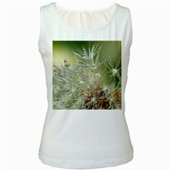 Dandelion Womens  Tank Top (White)
