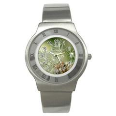 Dandelion Stainless Steel Watch (Unisex)