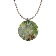 Dandelion Button Necklace