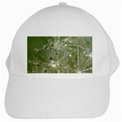Dandelion White Baseball Cap