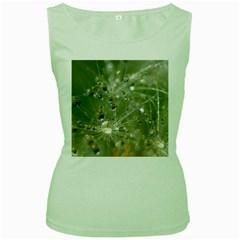 Dandelion Womens  Tank Top (Green)