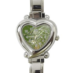 Dandelion Heart Italian Charm Watch