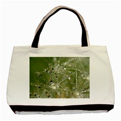 Dandelion Twin Sided Black Tote Bag