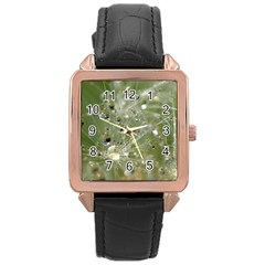 Dandelion Rose Gold Leather Watch