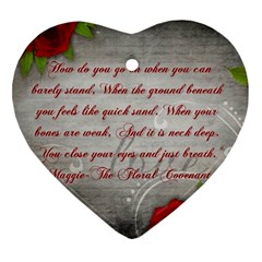 Maggie s Quote Heart Ornament