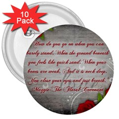 Maggie s Quote 3  Button (10 pack)