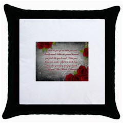 Maggie s Quote Black Throw Pillow Case