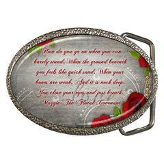 Maggie s Quote Belt Buckle (Oval)