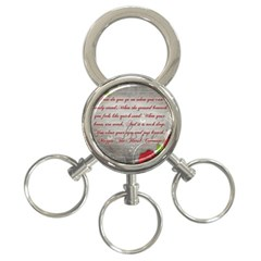 Maggie s Quote 3 Ring Key Chain
