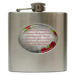 Maggie s Quote Hip Flask