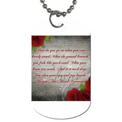 Maggie s Quote Dog Tag (Two-sided)