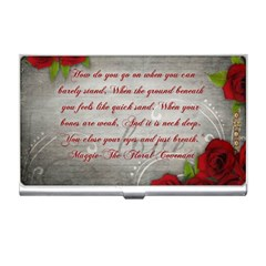 Maggie s Quote Business Card Holder
