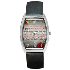 Maggie s Quote Tonneau Leather Watch