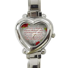 Maggie s Quote Heart Italian Charm Watch