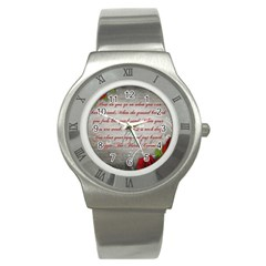 Maggie s Quote Stainless Steel Watch (unisex)