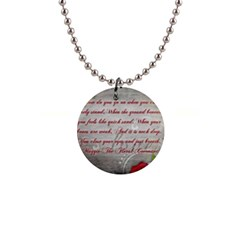 Maggie s Quote Button Necklace