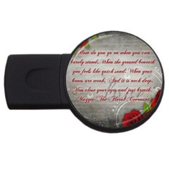Maggie s Quote 4gb Usb Flash Drive (round)