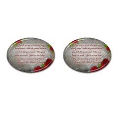 Maggie s Quote Cufflinks (Oval)