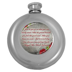 Maggie s Quote Hip Flask (Round)