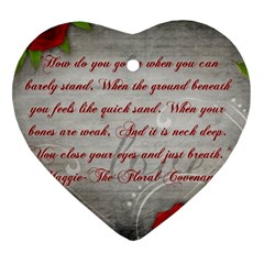 Maggie s Quote Heart Ornament (Two Sides)