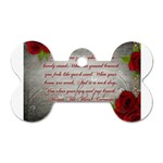Maggie s Quote Dog Tag Bone (One Sided) Front