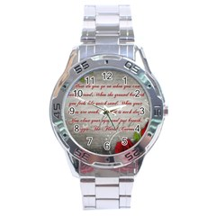 Maggie s Quote Stainless Steel Watch (Men s)