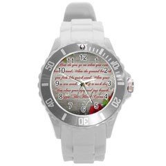 Maggie s Quote Plastic Sport Watch (Large)