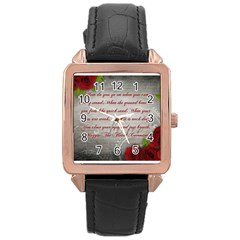 Maggie s Quote Rose Gold Leather Watch