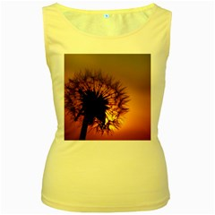 Dandelion Womens  Tank Top (Yellow)