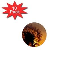 Dandelion 1  Mini Button Magnet (10 Pack)