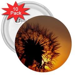 Dandelion 3  Button (10 pack)
