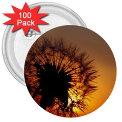 Dandelion 3  Button (100 pack)