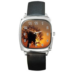 Dandelion Square Leather Watch