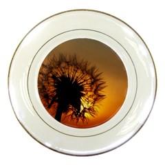 Dandelion Porcelain Display Plate