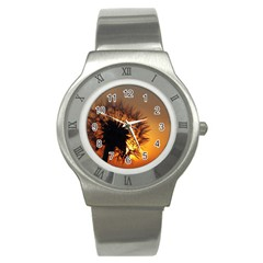 Dandelion Stainless Steel Watch (unisex)