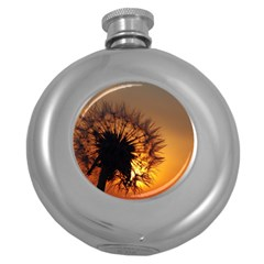 Dandelion Hip Flask (Round)