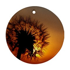Dandelion Round Ornament (Two Sides)