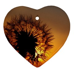 Dandelion Heart Ornament (Two Sides)