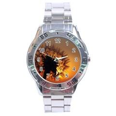 Dandelion Stainless Steel Watch (men s)