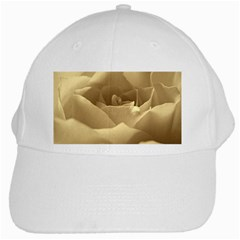 Rose  White Baseball Cap