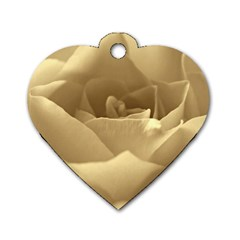 Rose  Dog Tag Heart (One Sided)