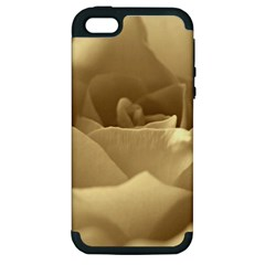 Rose  Apple iPhone 5 Hardshell Case (PC+Silicone)