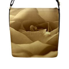 Rose  Flap Closure Messenger Bag (large)