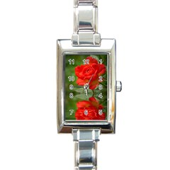Rose Rectangular Italian Charm Watch