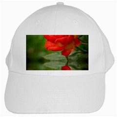 Rose White Baseball Cap