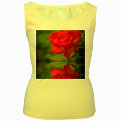 Rose Womens  Tank Top (Yellow)