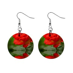 Rose Mini Button Earrings