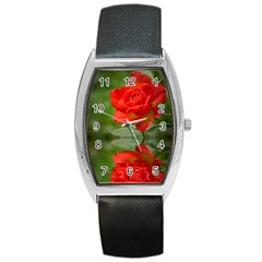 Rose Tonneau Leather Watch