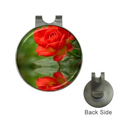Rose Hat Clip with Golf Ball Marker