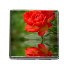Rose Memory Card Reader with Storage (Square)